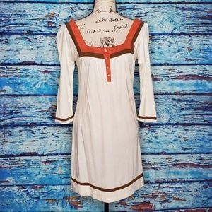 ROXY SZ Small Cotton Blend Cream Summer Dress